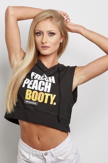 """Gym Glamour Mikina """"Fresh Peach Booty"""" Čierna"""