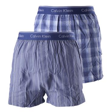 Calvin Klein 2Pack Trenky Modré So Vzormi