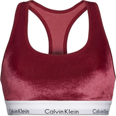 Calvin Klein Unlined Bralette Podprsenka Bordo