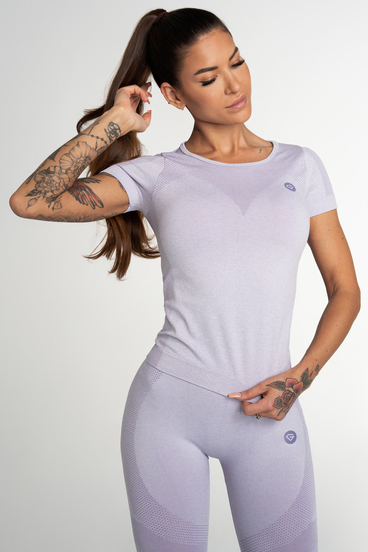 Gym Glamour Tričko Bezšvíkové Fusion Lavender
