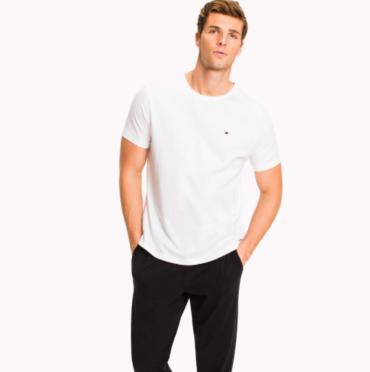 Tommy Hilfiger Pánske Tričko Biele