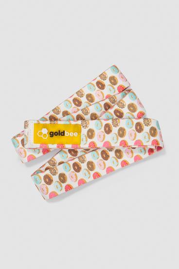 GoldBee Textilná Odporová Guma Dlhá - Donuts