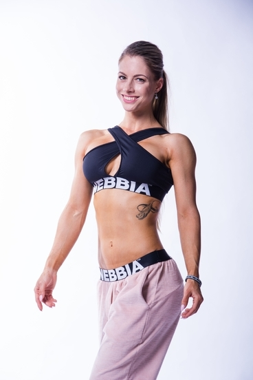 Nebbia 622 Crossed Sports Bra Čierná