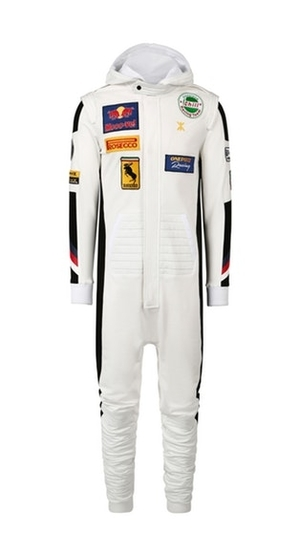 OnePiece Overal Formula White