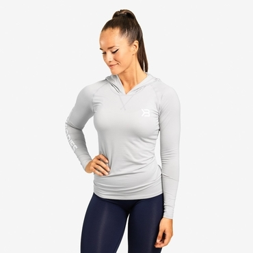 Better Bodies Tričko Performance Long Sleeve Hood Frost Grey