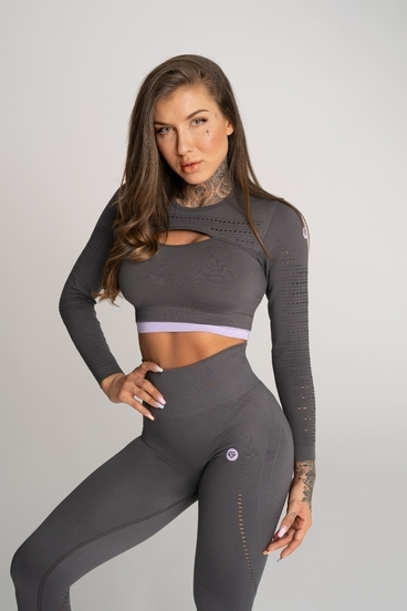 Gym Glamour Crop Top Deynn Sivý