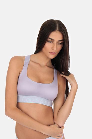 Calvin Klein Podprsenka Bralette Lightly Lined Neutral Grey