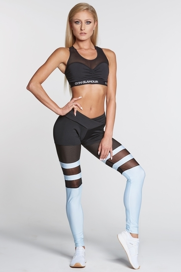 Legíny Gym Glamour Mesh And Blue Socks