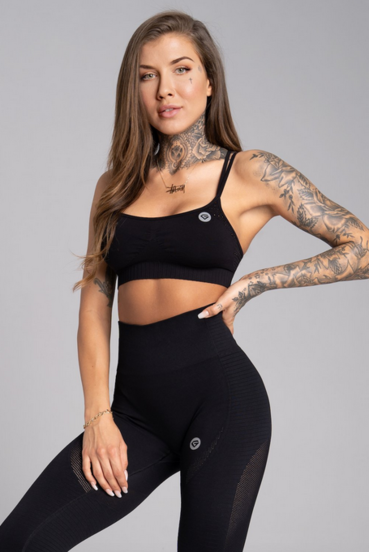 Gym Glamour Podprsenka Seamless Black
