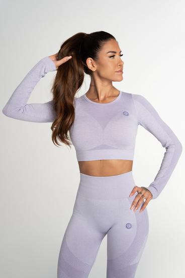 Gym Glamour Crop Top Bezšvíkový Fusion Lavender
