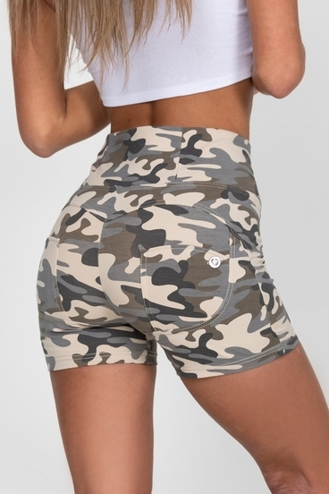 Hugz Light Camo High Waist Short