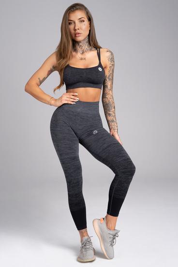 Gym Glamour Legíny Bezšvíkové Grey Ombré