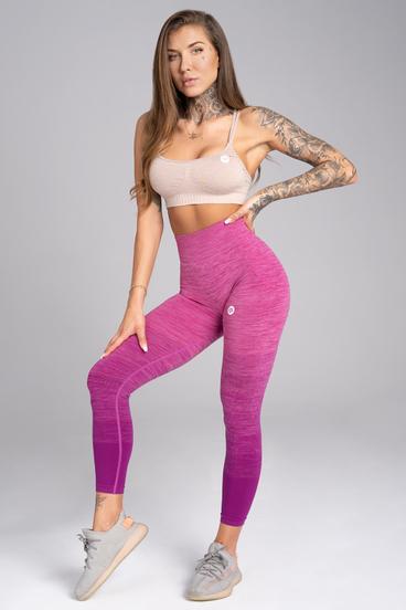Gym Glamour Legíny Bezšvíkové Pink Ombré