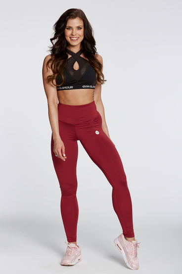 Gym Glamour Legíny High Waist Bordo