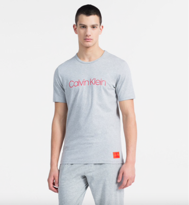 Calvin Klein Tričko Monogram Pánské Sivé