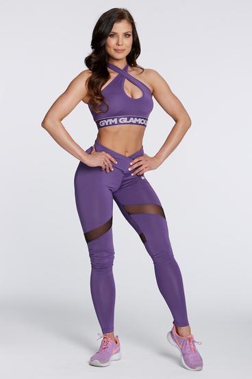 Legíny Gym Glamour Violet Heart