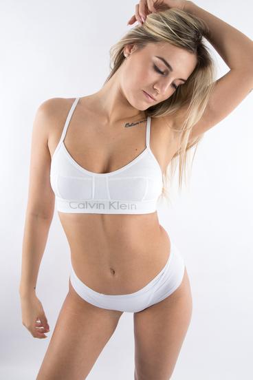 Calvin Klein Podprsenka Bralette Body Biela