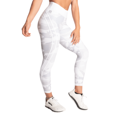 Better Bodies Legíny White Camo High Tights