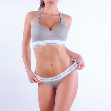 Calvin Klein Podprsenka Bralette Lift Grey