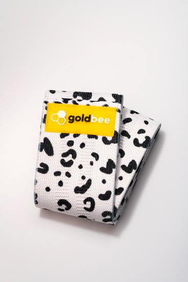 GoldBee Textilná Odporová Guma - Biela Tigrovaná