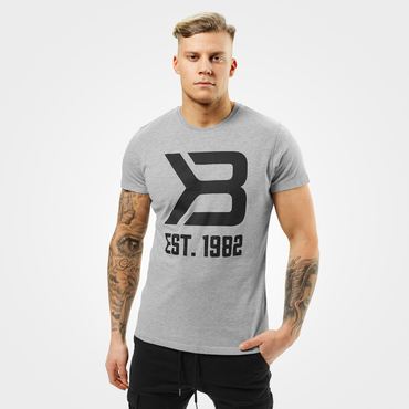 Better Bodies Tričko Washington Tee Grey Melange