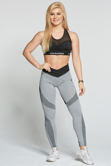 Legíny Gym Glamour Glam Mixed Grey