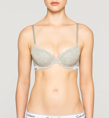 Calvin Klein Podprsenka Modern Cotton T-Shirt Šedá