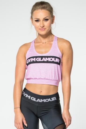 Gym Glamour Top Krátky Ružový