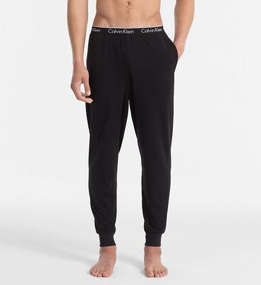 Calvin Klein Pánske Tepláky Čierne S Čiernou Gumou
