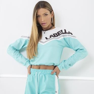 Labella Mikina Turquoise/White