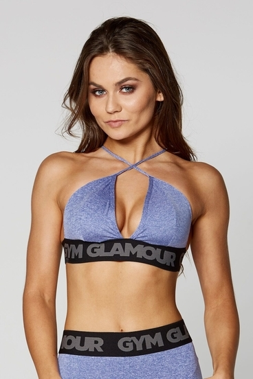 Podprsenka Gym Glamour Purple Sexy String