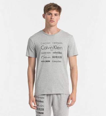 Calvin Klein Pánske Tričko Heritage Šedé