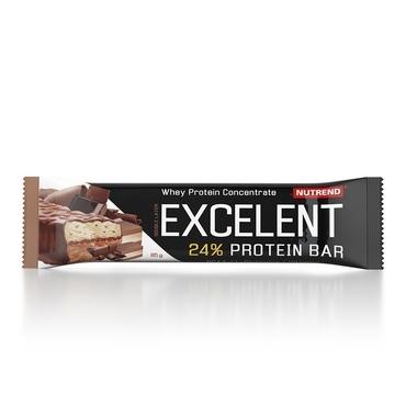Nutrend Excelent Protein Bar Double Čokoláda + Nugát S Brusnicami 40g