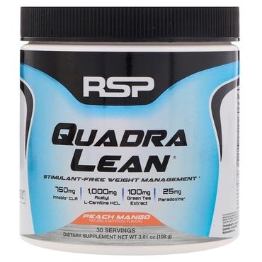 RSP QuadraLean Powder Stimulant Free Weight - Peach Mango