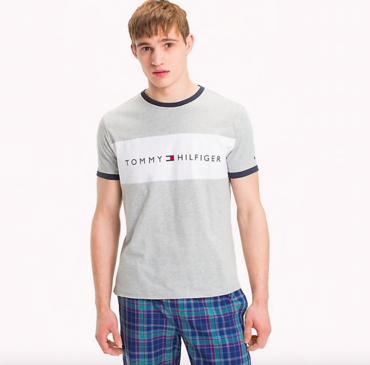 Tommy Hilfiger Pánske Tričko S Krátkymi Rukávmi Sivé