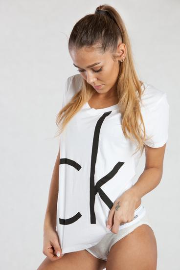 Calvin Klein Dámske Tričko Biele CK