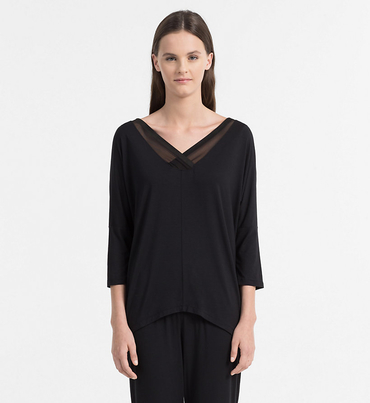 Calvin Klein Tričko Na Spanie Čierne
