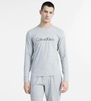 Calvin Klein Tričko S Dlhými Rukávmi Sivé