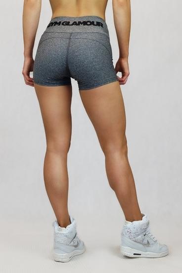 Gym Glamour Kraťásky Grey Melange