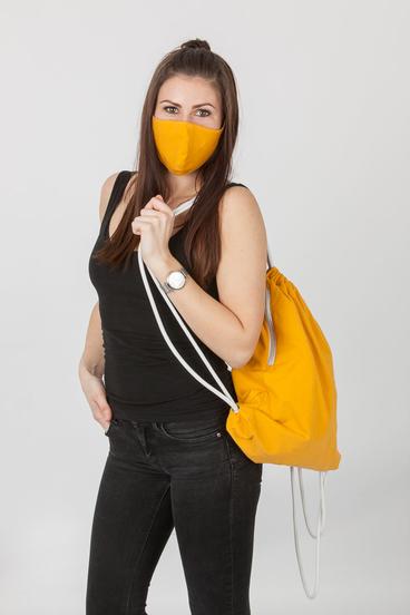 GoldBee Set Maska a Bag - Mustard