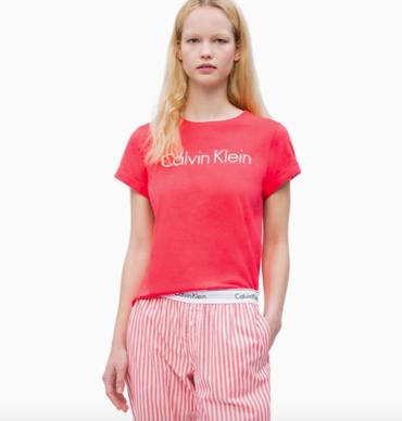 Calvin Klein Tričko Pink Mango