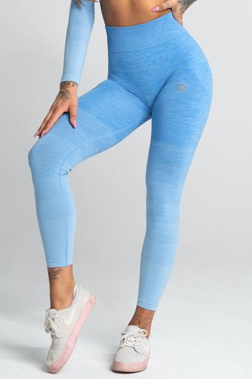 Gym Glamour Legíny Bezšvíkové Blue Ombre