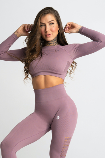 Gym Glamour Crop-Top Wild Rose