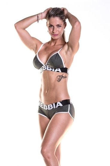 Nebbia Fitness Podprsenka 267 Khaki