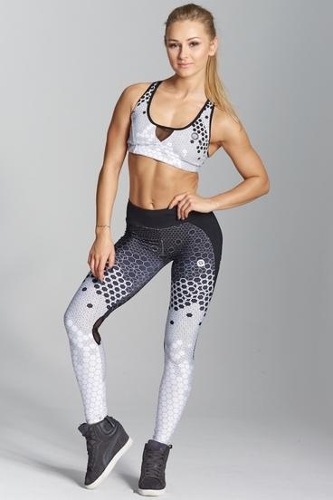 Gym Glamour Legíny White Honey Combs