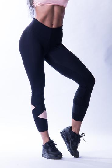 Nebbia 639 Asymmetrical 7/8 Leggings Čierné