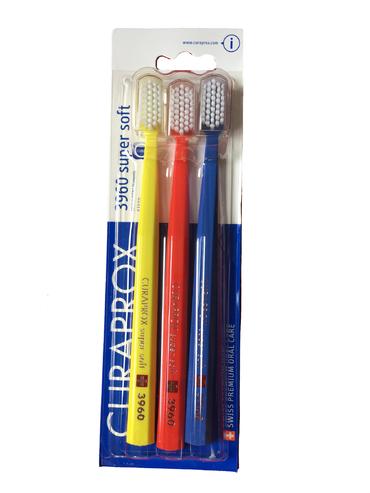 Curaprox Sada kefiek 3960 Super Soft Žltý, Červený, Modrý