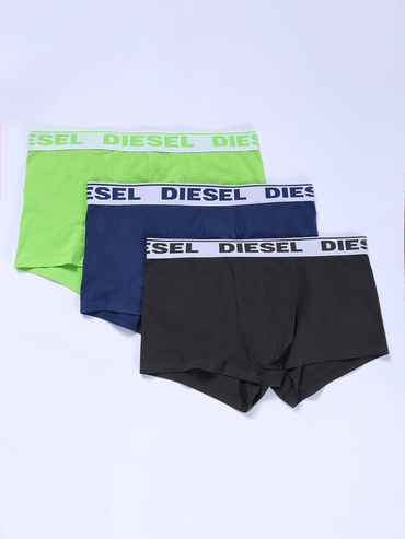 Diesel 3Pack Boxerky Black, Blue & Green Fluo