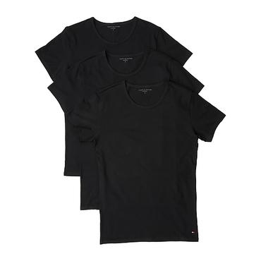 Tommy Hilfiger 3Pack Pánske Tričká Čierne