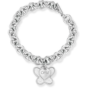 Ops! Objects Náramok Glitter Kolekcia Silver Butterfly